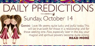 Daily Predictions for Sunday, 14 October 2018