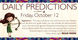 Daily Predictions for Friday, 12 October 2018