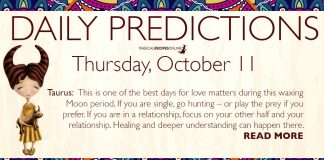 Daily Predictions for Thursday, 11 October 2018