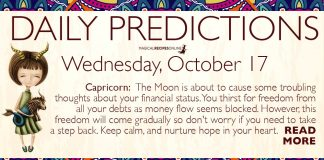 Daily Predictions for Wednesday, 17 October 2018