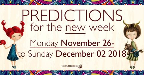 Predictions for the New Week, November 26 - December 02, 2018