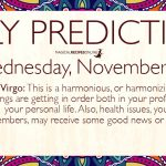 Daily Predictions for Wednesday 14 November 2018