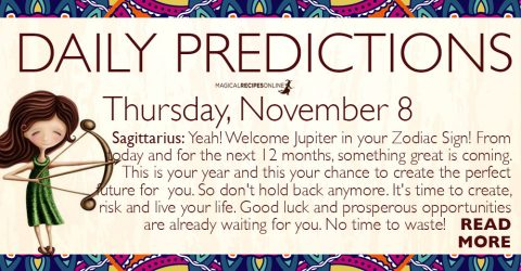 Daily Predictions for Thursday, November 8, 2018