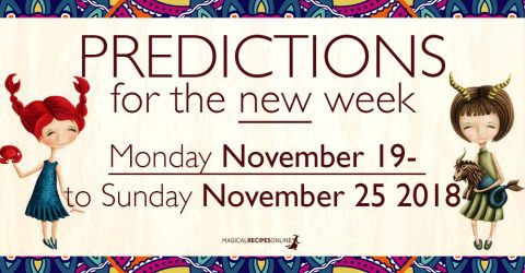 Predictions for the New Week, November 19 - 25, 2018