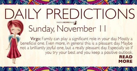 Daily Predictions for Sunday 11 November 2018