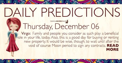 Daily Predictions for Thursday 6 December 2018