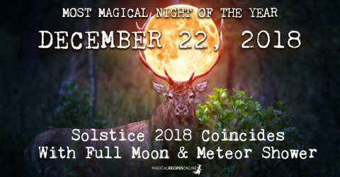 December 22, 2018: Solstice Coincides With Full Moon & Meteor Shower