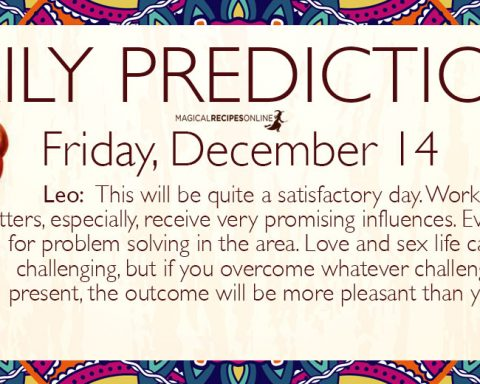 Daily Predictions for Friday 14 December 2018