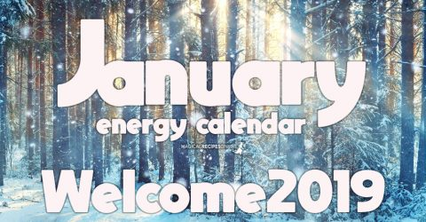 January Energy Calendar - Welcome 2019