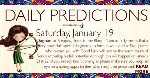 Daily Predictions for Saturday, January 19 2019