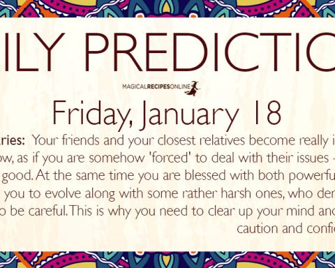 Daily Predictions for Friday, January 18 2019
