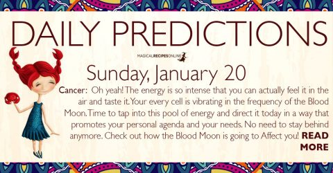 Daily Predictions for Sunday, January 20 2019