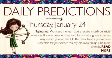Daily Predictions for Thursday 24 January 2019