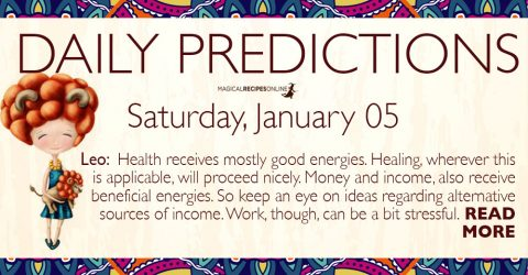 Daily Predictions for Saturday 05 January 2019