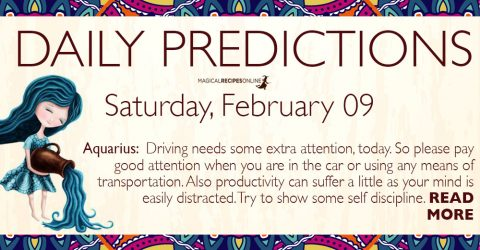 Daily Predictions for Saturday 09 February 2019