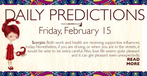 Daily Predictions for Friday 15 February 2019