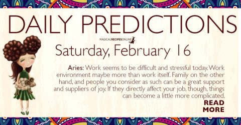 Daily Predictions for Saturday 16 February 2019