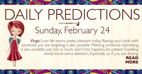 Daily Predictions for Sunday 24 February 2019