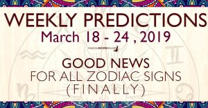 General Predictions for the New Week:After a very important week, with a combined cosmic energy of the Full Moon and the Equinox, the week that follows is also really really interesting and busy. We will get you step by step towards our weekly guide of the New Week. In just a week, Mercury stops his retrograde course, Mars enters Gemini and Venus enters Pisces. That's why it's such a busy week! The forces of nature are have already been awakened! Do you feel it? Uranus in Taurus From March 06, 2019 until July 07, 2025 Uranus in Taurus will change many things in our lives including the whole Material Plane because Taurus symbolises the Earth and Ecology. See here more about this life-changing Astrological phenomenon. Retrograde Mercury until March 28 - but will still affect us for weeks OnTuesday, March 05th at 18:19 UT Mercury stopped at the very edge of Pisces, in order to turn retrograde. Many of us have already had a glimpse (or many more glimpses than just one) of this upcoming event. Those born under the sighs of Pisces, Virgo and then the rest of the zodiacs of Water and Earth, probably, felt it more clearly than the rest. The process is going to be long – for entire month – although most of us have already felt the influence of March's Retrograde Mercury. See more how Retrograde Mercury affects your Zodiac Sign in a detailed article here. Venus in enters Pisces - March 26 This is another powerful influence of the Week. As Venus has blessed our internet affair and our global communication, now it's time to go deeper and heal our very souls. In fact Mars in Taurus until March 31 -> Mars in Gemini The new position of mighty Mars helps the Earth Signs pass through the obstacles of their everyday life. In fact all this fiery energy, activates their inner passion and their will to evolve. Moreover, it changes our focus towards a more materialistic point of view, taking further care of our health, our habits and our material belongings. However, dues to the rather h