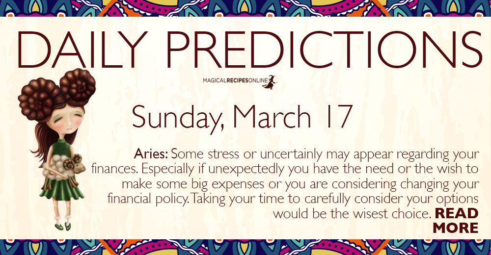 Daily Predictions for Sunday 17 March 2019