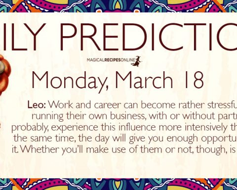 Daily Predictions for Monday 18 March 2019
