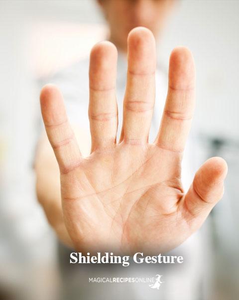 Shielding gesture