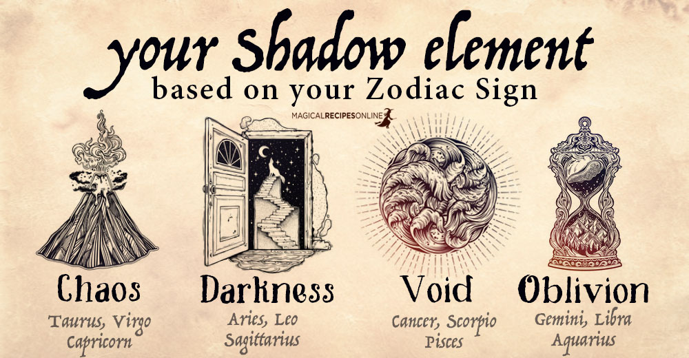 Your Shadow Element - based on your Zodiac Sign - Magical