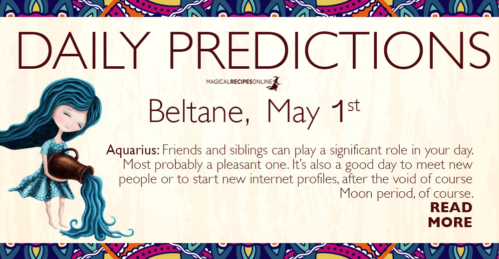 Daily Predictions for Thursday 01 May 2019