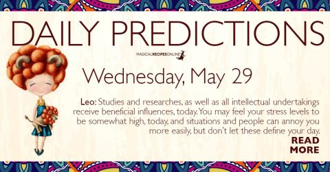 Daily Predictions for Wednesday 29 May 2019