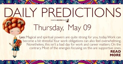 Daily Predictions for Thursday 09 May 2019