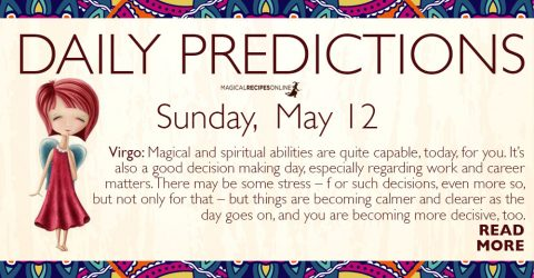 Daily Predictions for Sunday 12 May 2019