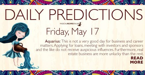 Daily Predictions for Friday 17 May 2019