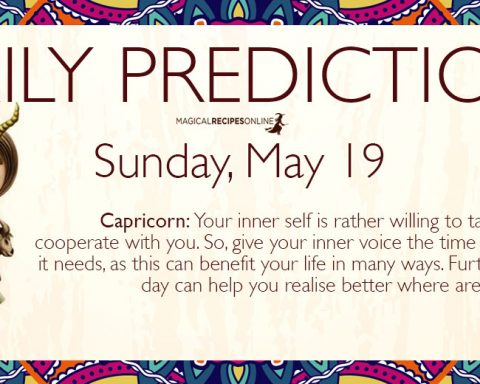 Daily Predictions for Sunday 19 May 2019