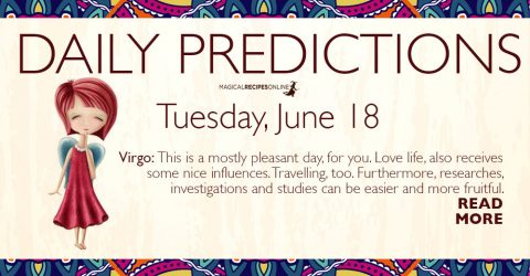Daily Predictions for Tuesday 18 June 2019