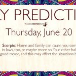 Daily Predictions for Thursday 20 June 2019