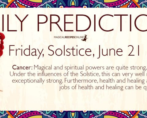 Daily Predictions for Friday 21 June 2019