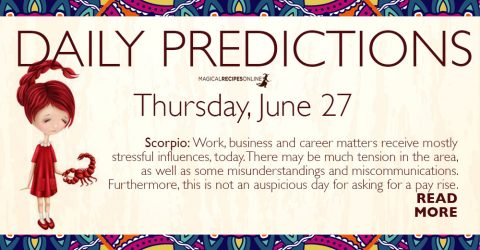 Daily Predictions for Thursday 27 June 2019