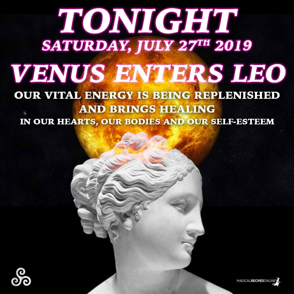 Venus conjuncts with the Black Moon in Leo