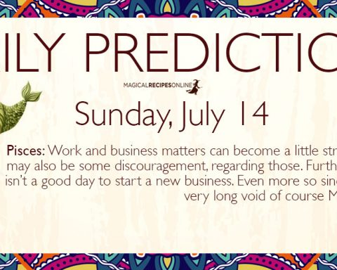 Daily Predictions for Sunday 14 July 2019