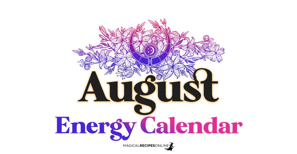 August Energy Calendar