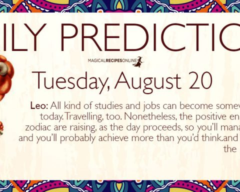Daily Predictions for Tuesday 20 August 2019