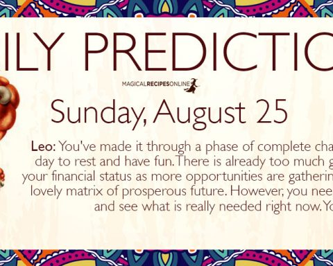 Daily Predictions for Sunday, August 25 2019