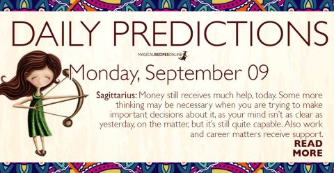 Daily Predictions for Monday 09 September 2019