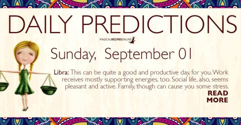 Daily Predictions for Sunday 01 September 2019