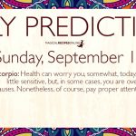 Daily Predictions for Sunday 15 September 2019