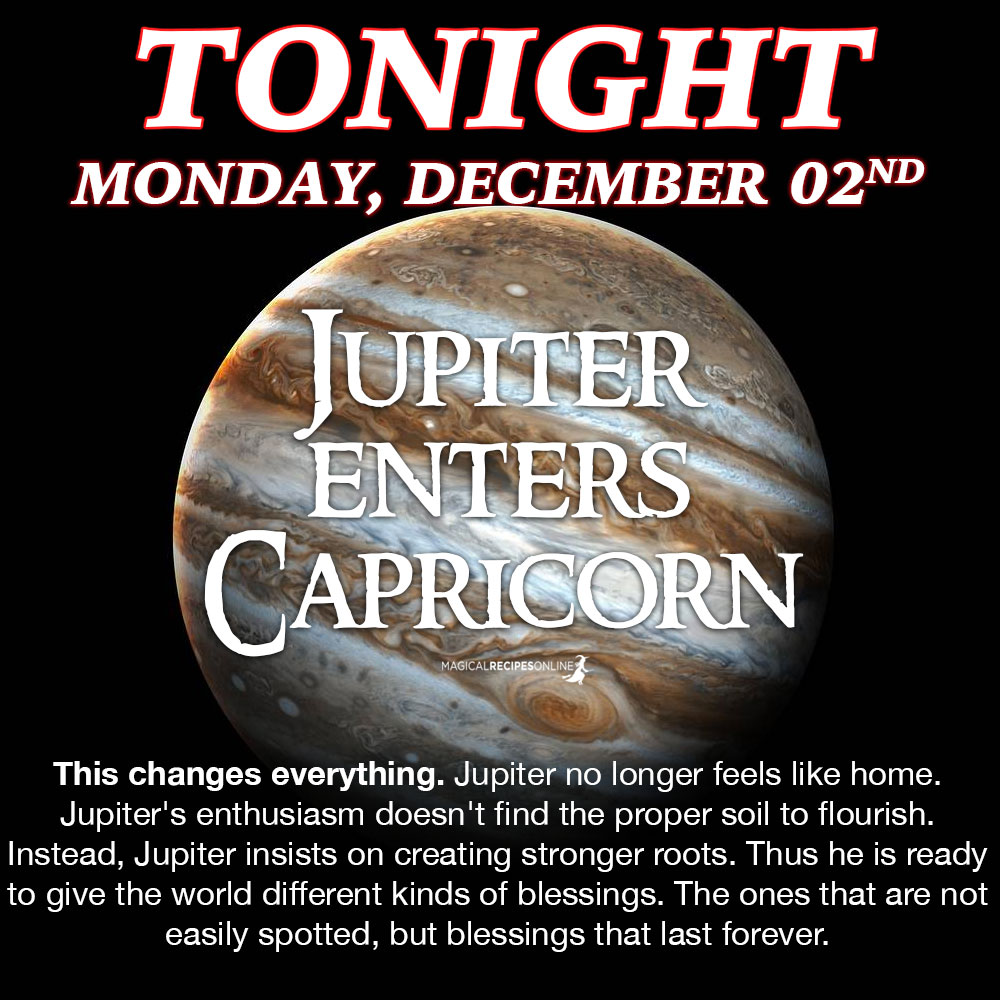 Jupiter in Capricorn - December 2019 - December 2020