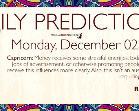 Daily Predictions for Monday 02 December 2019