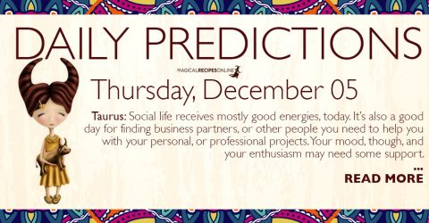 Daily Predictions for Thursday 05 December 2019