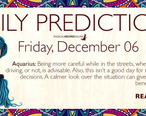 Daily Predictions for Friday 06 December 2019