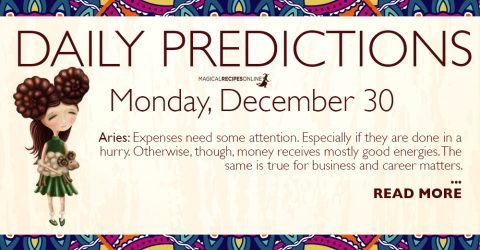 Daily Predictions for Monday 30 December 2019